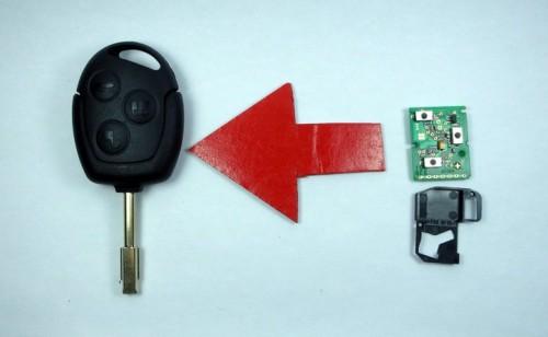 Dálkové ovládání pro Klíč Ford Focus Mondeo Fiesta Ka Escort Pum