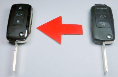 klíč Škoda seat vw přestavba vystřelovací obal dálkové ovládání tři tlačítka